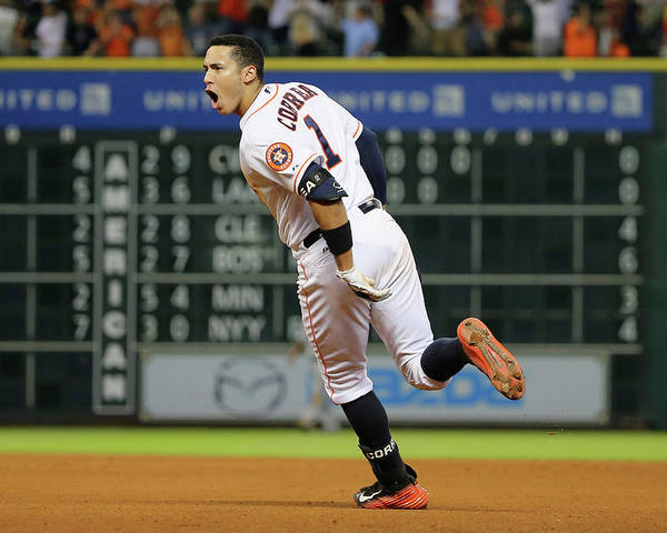 People Poster featuring the photograph Carlos Correa by Scott Halleran