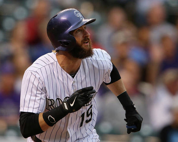 American League Baseball Poster featuring the photograph Charlie Blackmon by Doug Pensinger