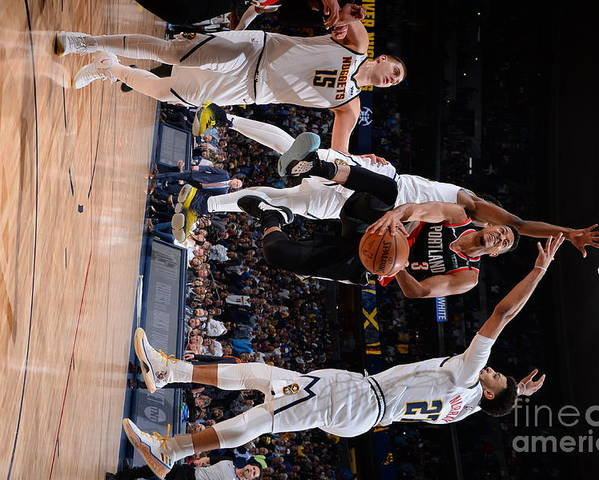 Playoffs Poster featuring the photograph C.j. Mccollum by Bart Young