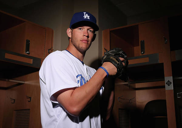 Media Day Poster featuring the photograph Clayton Kershaw by Christian Petersen