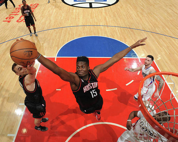 Nba Pro Basketball Poster featuring the photograph Clint Capela by Andrew D. Bernstein