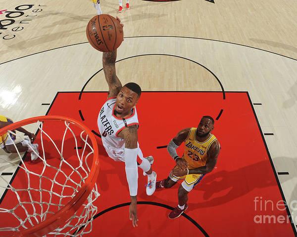 Nba Pro Basketball Poster featuring the photograph Damian Lillard by Andrew D. Bernstein
