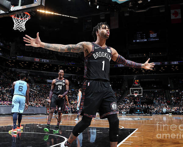 Nba Pro Basketball Poster featuring the photograph D'angelo Russell by Nathaniel S. Butler