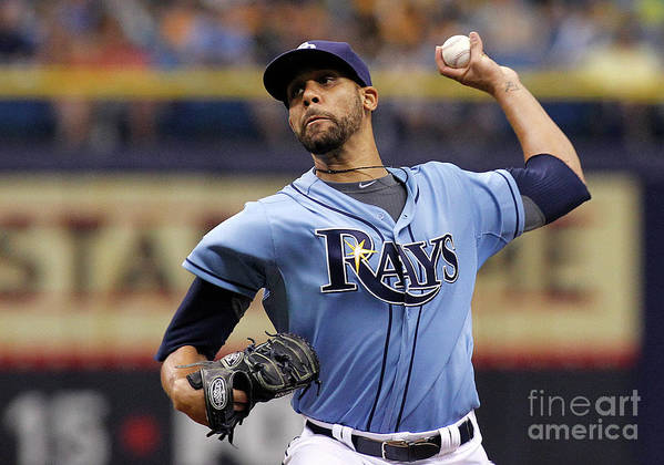 David Price Poster featuring the photograph David Price by Brian Blanco