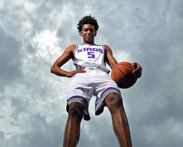 Nba Pro Basketball Poster featuring the photograph De'aaron Fox by Jesse D. Garrabrant