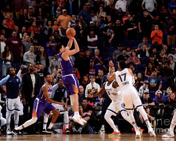Nba Pro Basketball Poster featuring the photograph Devin Booker by Barry Gossage