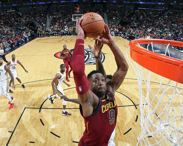Smoothie King Center Poster featuring the photograph Dwyane Wade by Layne Murdoch