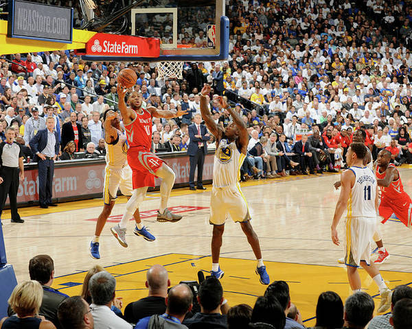 Nba Pro Basketball Poster featuring the photograph Eric Gordon by Andrew D. Bernstein