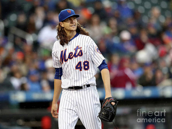 Jacob Degrom Poster featuring the photograph Jacob Degrom by Elsa