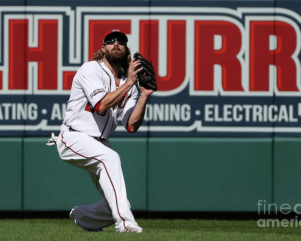 Game Two Poster featuring the photograph Jayson Werth by Patrick Smith