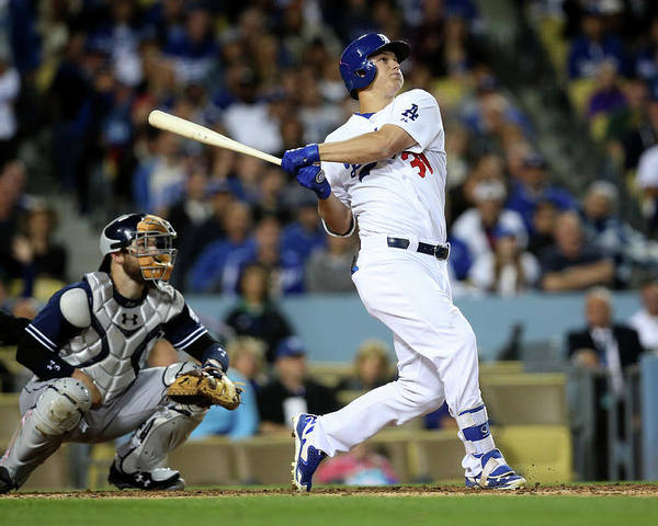 People Poster featuring the photograph Joc Pederson by Stephen Dunn