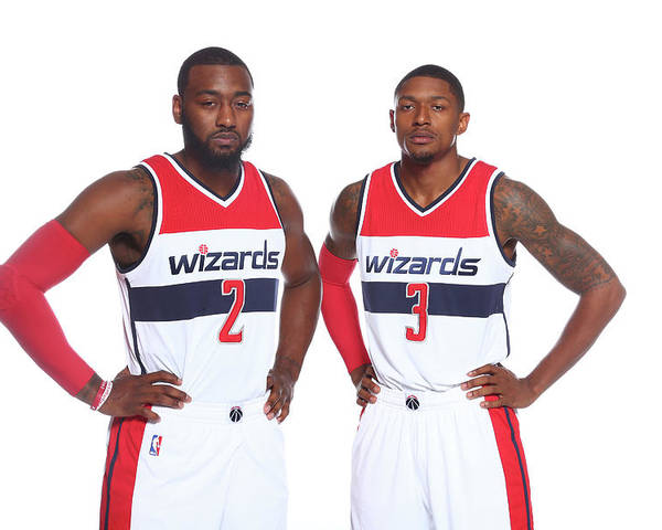Nba Pro Basketball Poster featuring the photograph John Wall and Bradley Beal by Ned Dishman