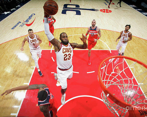 Nba Pro Basketball Poster featuring the photograph Lebron James by Ned Dishman
