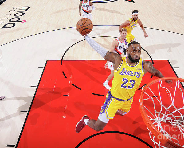 Nba Pro Basketball Poster featuring the photograph Lebron James by Sam Forencich