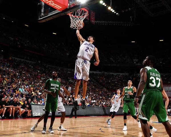 Nba Pro Basketball Poster featuring the photograph Lonzo Ball by Garrett Ellwood
