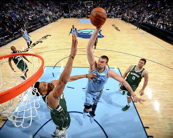 Nba Pro Basketball Poster featuring the photograph Marc Gasol by Jesse D. Garrabrant