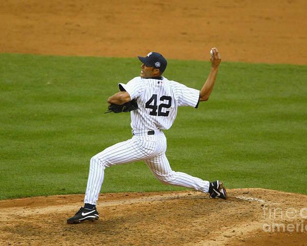 American League Baseball Poster featuring the photograph Mariano Rivera by Al Bello