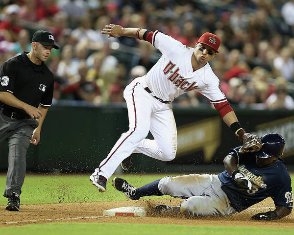Ninth Inning Poster featuring the photograph Martin Prado by Christian Petersen
