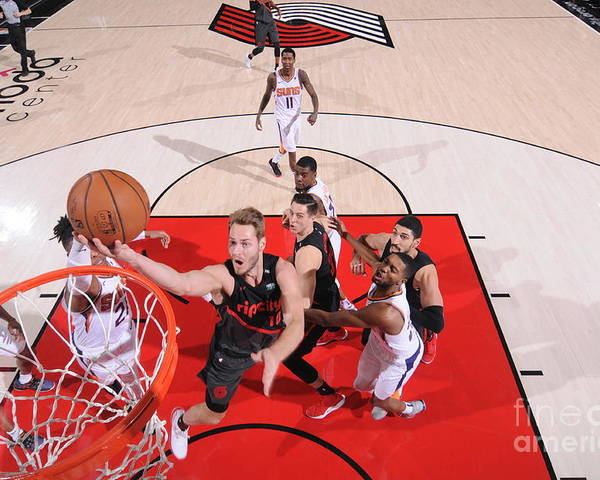 Meyers Leonard Poster featuring the photograph Meyers Leonard by Sam Forencich