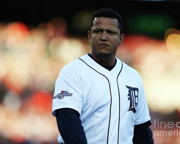 American League Baseball Poster featuring the photograph Miguel Cabrera by Leon Halip