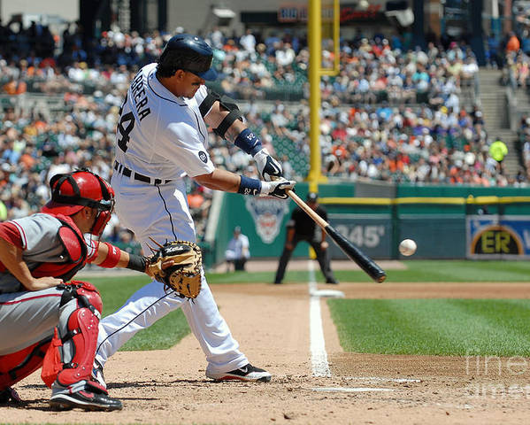 American League Baseball Poster featuring the photograph Miguel Cabrera by Mark Cunningham