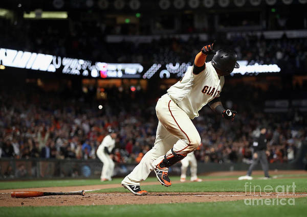 San Francisco Poster featuring the photograph Pablo Sandoval by Ezra Shaw