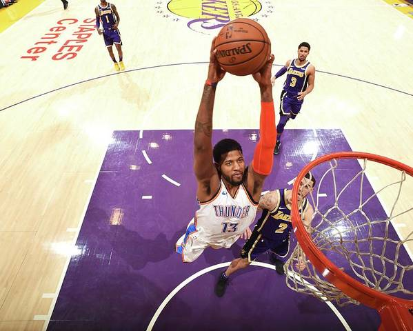 Nba Pro Basketball Poster featuring the photograph Paul George by Andrew D. Bernstein