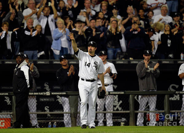 Crowd Poster featuring the photograph Paul Konerko by Brian Kersey