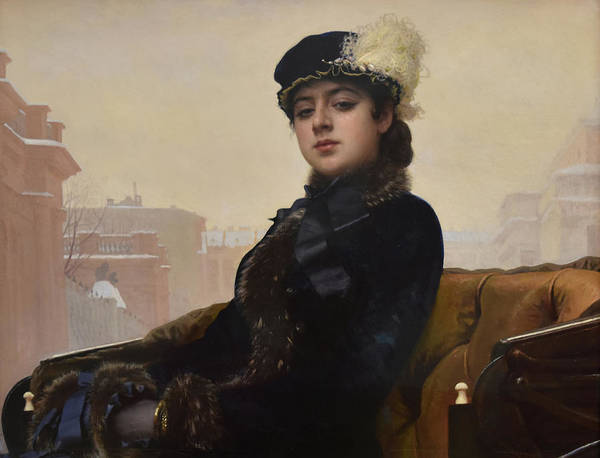 Unknown Woman Poster featuring the painting Portrait of an Unknown Woman by Ivan Kramskoy