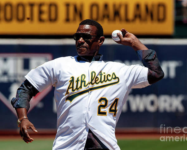 People Poster featuring the photograph Rickey Henderson by Jason O. Watson