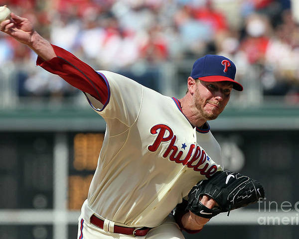Citizens Bank Park Poster featuring the photograph Roy Halladay by Jim Mcisaac