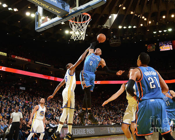 Nba Pro Basketball Poster featuring the photograph Russell Westbrook by Noah Graham