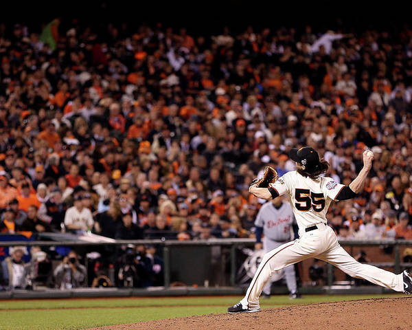 San Francisco Poster featuring the photograph Tim Lincecum by Christian Petersen
