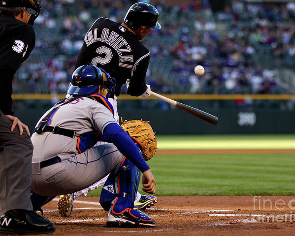 People Poster featuring the photograph Troy Tulowitzki by Justin Edmonds