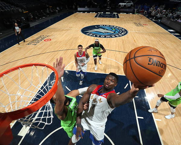 Nba Pro Basketball Poster featuring the photograph Zion Williamson by David Sherman