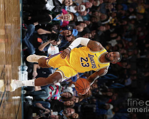 Nba Pro Basketball Poster featuring the photograph Lebron James by Joe Murphy