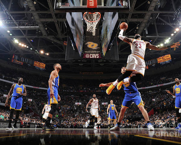 Playoffs Poster featuring the photograph Lebron James by Andrew D. Bernstein