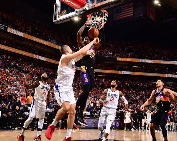 Playoffs Poster featuring the photograph 2021 NBA Playoffs - LA Clippers v Phoenix Suns by Barry Gossage