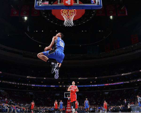 Nba Pro Basketball Poster featuring the photograph Aaron Gordon by Jesse D. Garrabrant