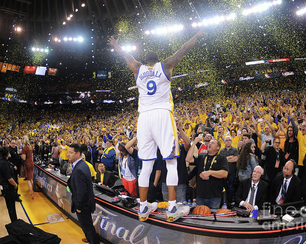 Playoffs Poster featuring the photograph Andre Iguodala by Noah Graham