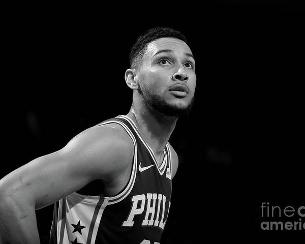 Nba Poster featuring the photograph Ben Simmons by Nathaniel S. Butler