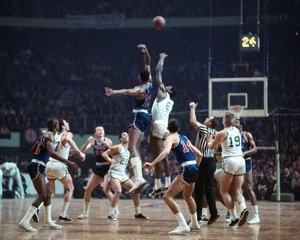 Bill Russell And Wilt Chamberlain Poster By Dick Raphael