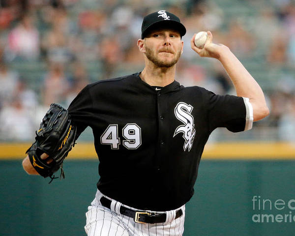 Three Quarter Length Poster featuring the photograph Chris Sale by Jon Durr