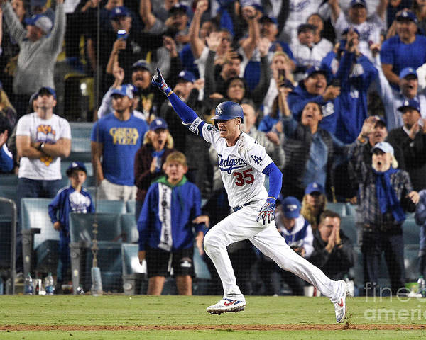 People Poster featuring the photograph Cody Bellinger by Kevork Djansezian