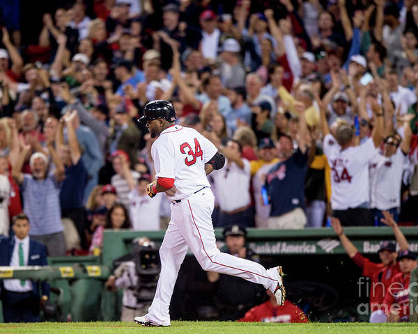 People Poster featuring the photograph David Ortiz by Billie Weiss/boston Red Sox