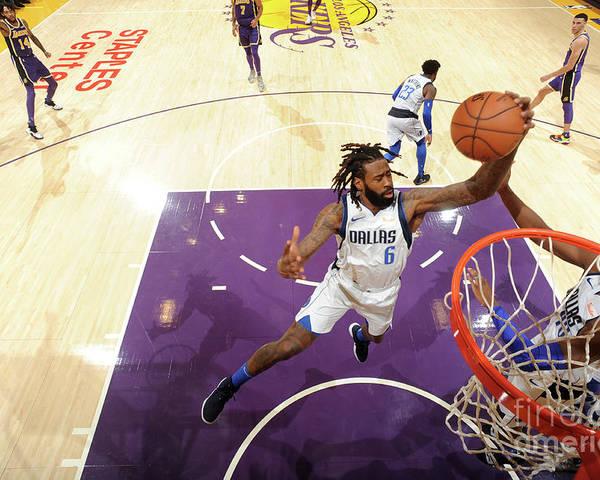 Nba Pro Basketball Poster featuring the photograph Deandre Jordan by Juan Ocampo