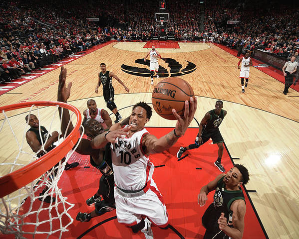 Playoffs Poster featuring the photograph Demar Derozan by Ron Turenne