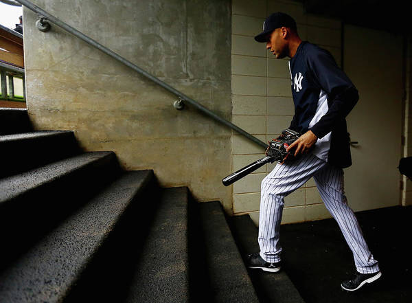Derek Jeter Poster featuring the photograph Derek Jeter by Al Bello