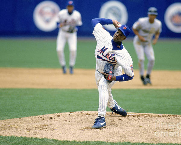 Dwight Gooden Poster featuring the photograph Dwight Gooden by Rich Pilling
