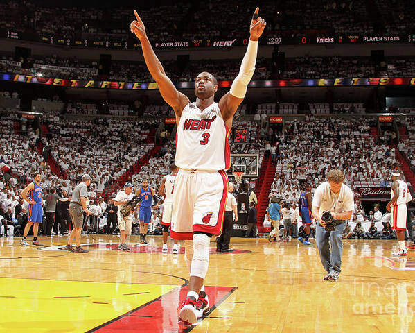 Playoffs Poster featuring the photograph Dwyane Wade by Nathaniel S. Butler